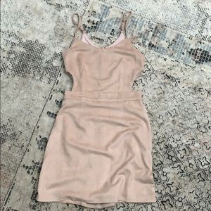 Faux Suede/Light Pink Dress